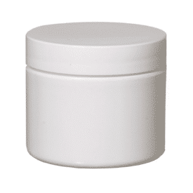 2.0 oz White Plasitc jar