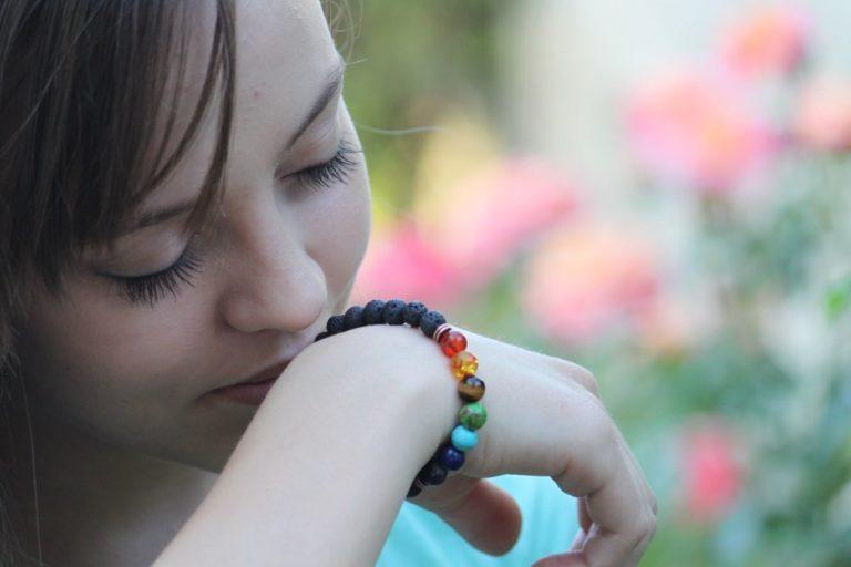 7 Chakra Lava Stone Essential Oil Diffuser Bracelet