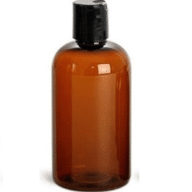 8 oz amber bottle with lid