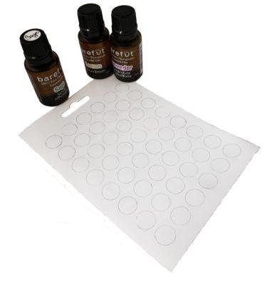 Blank Essential Oil Lid Labels barefut