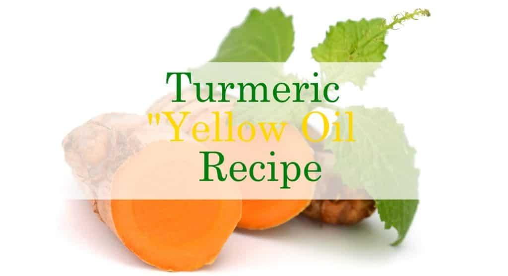Turmeric Essential Oil Yellow Oil Recipe
