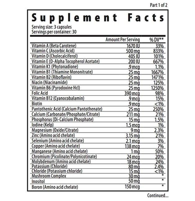 Barefut Whole Food Vitamin Dietary Supplement