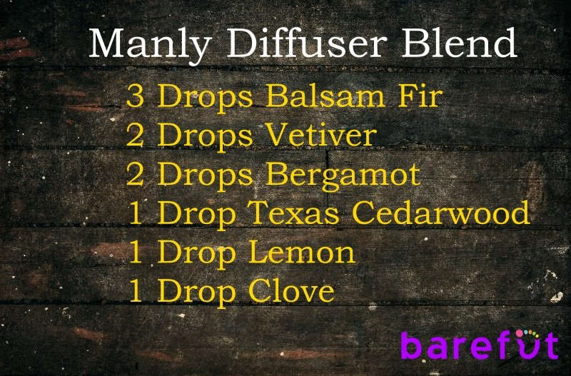 rustic manly essential oil diffuser blend